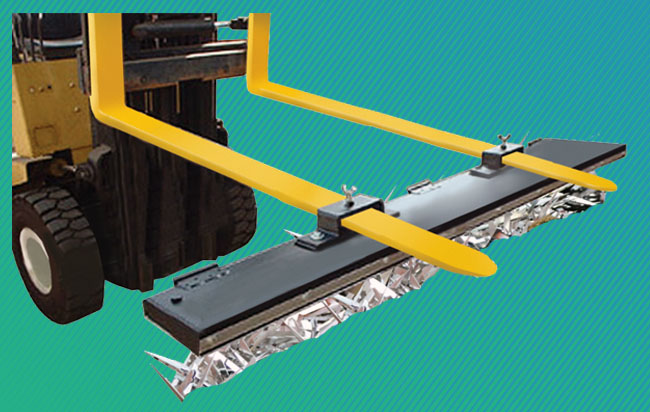 magnetic-sweeper-forklift-operated